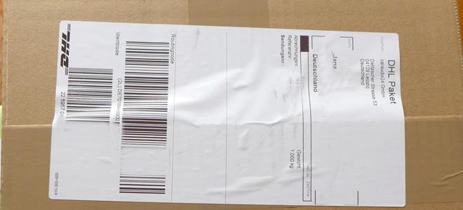 Das Paket mit dem DAB-Modul